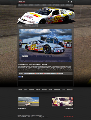 Chris Walker Motorsports - Walters Web Design ( Pro Cup Team Website )